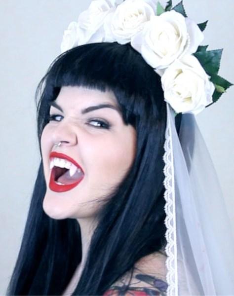 Vampire Bride Halloween Makeup