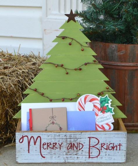 Wooden Christmas Tree Box