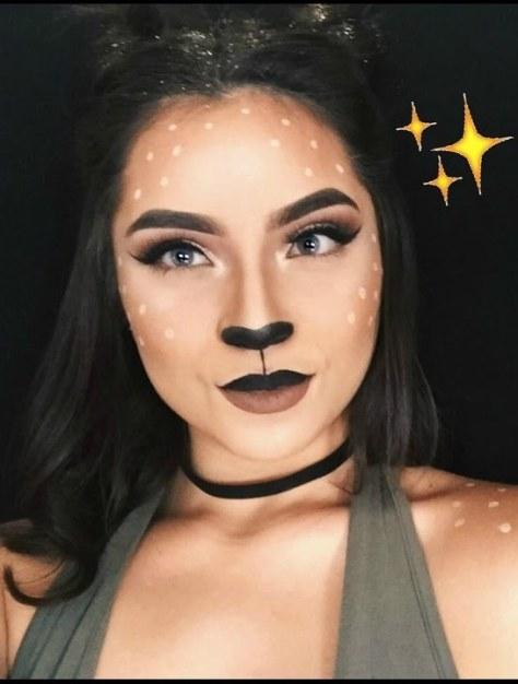 Glam Deer Halloween Makeup