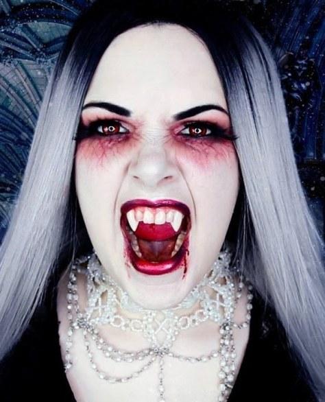 Scary Vampire Halloween Makeup
