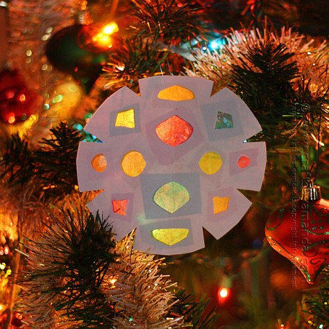 Faux Stained Glass Snowflake