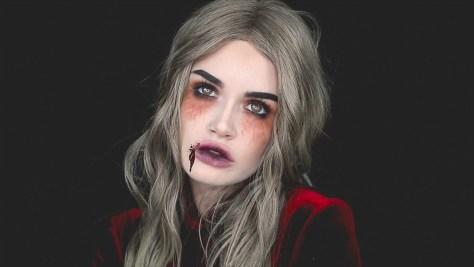 Victorian Vampire Halloween Makeup