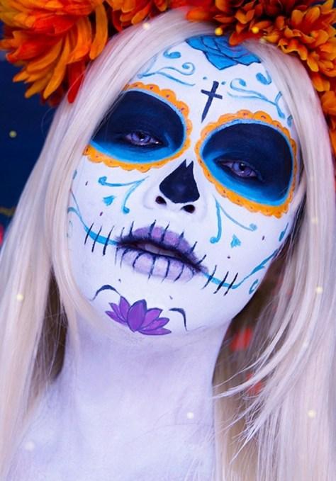 Mexican Day of the Dead Sugar Skulls Halloween Makeup