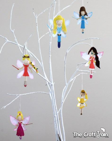 Rainbow Fairy Spoon Doll Ornaments