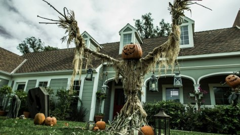Pumpkin Scarecrow Halloween Decoration
