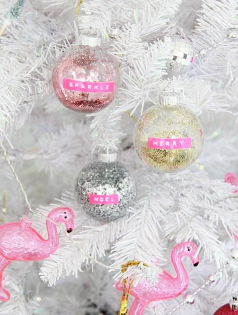 Retro Glitter Ornaments