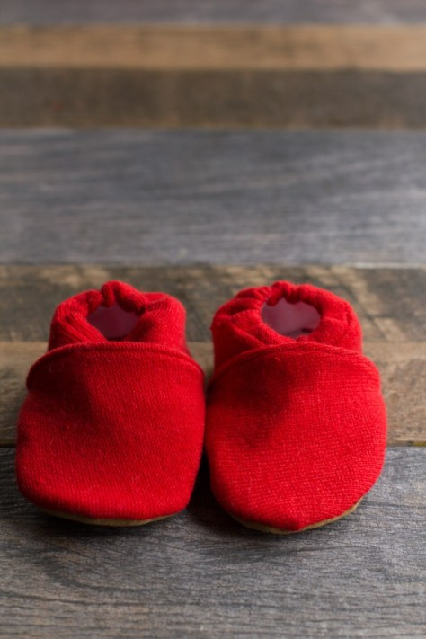 Upcycled Sweater Baby Booties