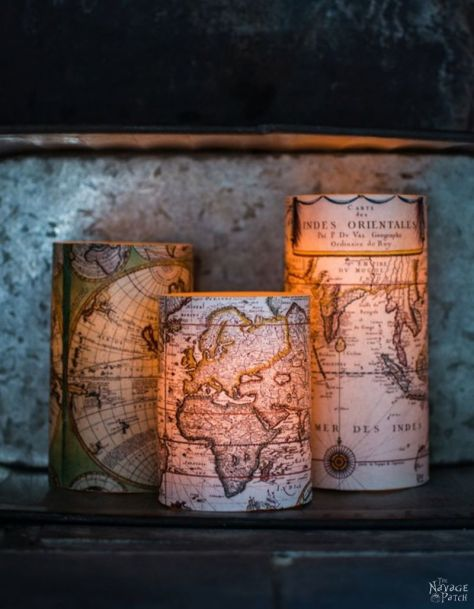 World Map Candles