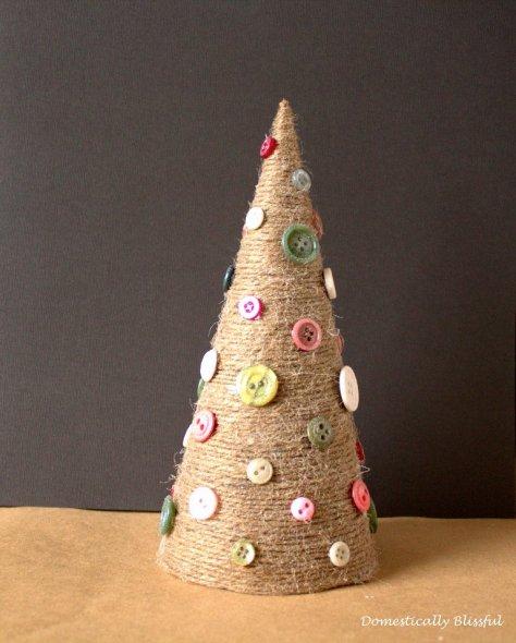 Glittery Twine Christmas Tree