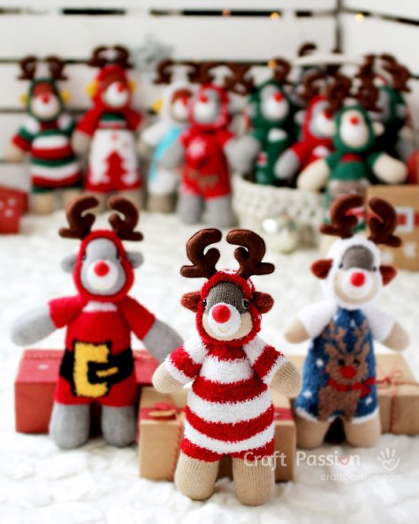 Sock Reindeer Dolls