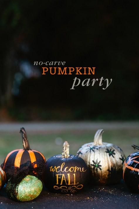 No-Carve Pumpkin Decoration