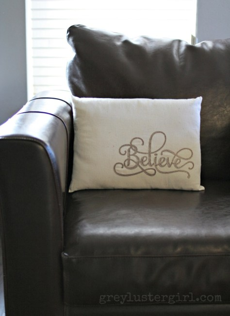 Leather Christmas Pillow