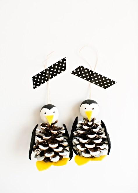 Pine Cone Penguin Ornament