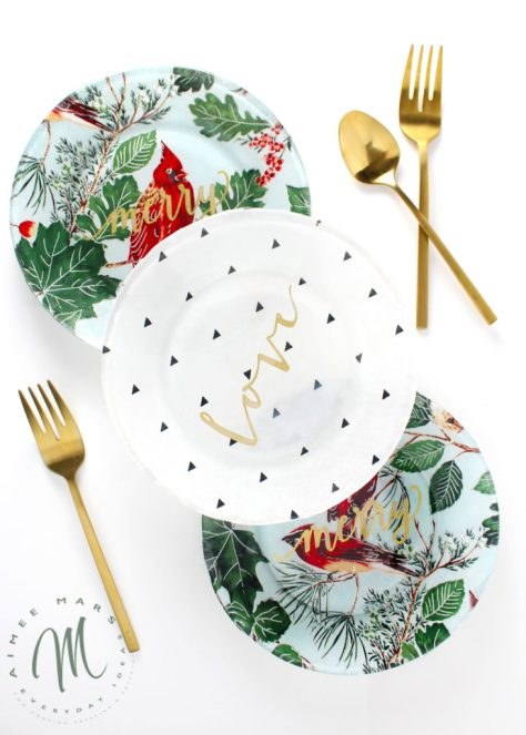 Fabric Covered Plates