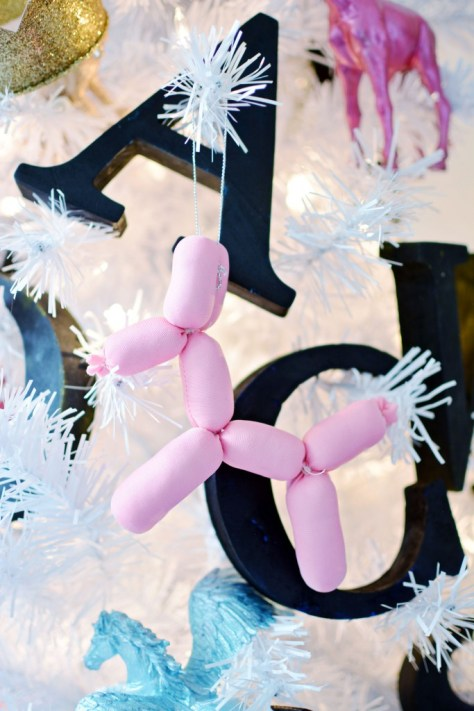 Stuffed Balloon Animals Ornaments