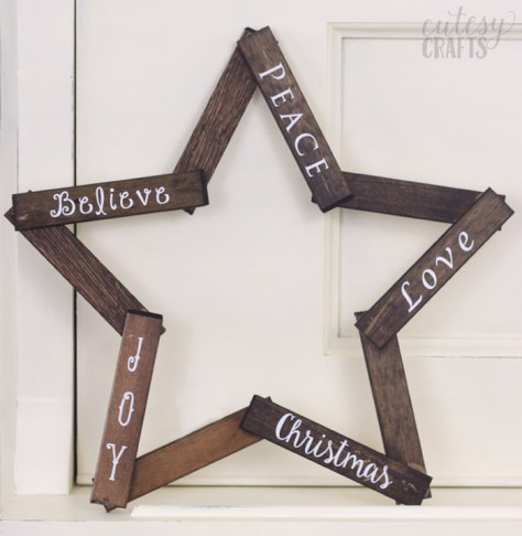 Wooden Star DIY Christmas Decoration