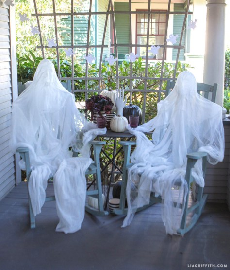 Ghost Sitting in Porch
