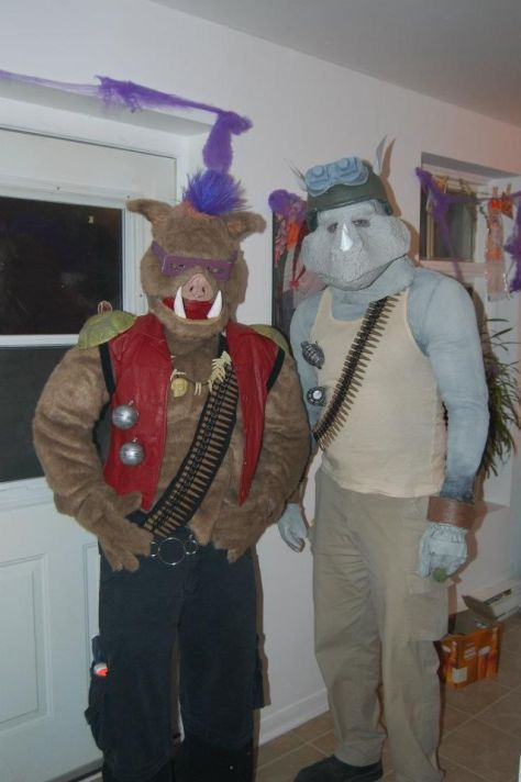 Bebop & Rocksteady Couples Halloween Costumes