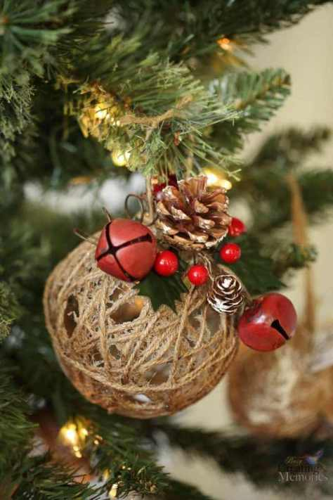 Rustic Jingle Bell Ornaments
