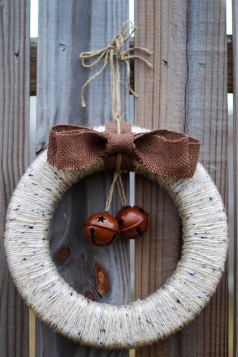 Rustic Jingle Bell Wreath