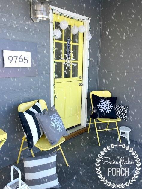 Snowflakes Porch Decoration