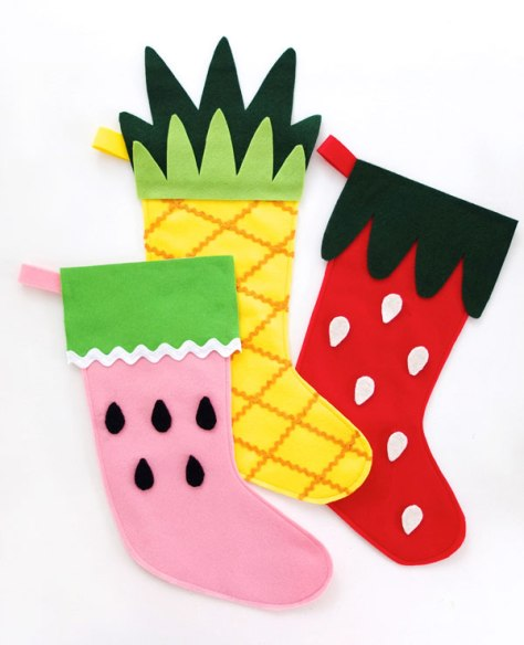Fruity Christmas Stockings