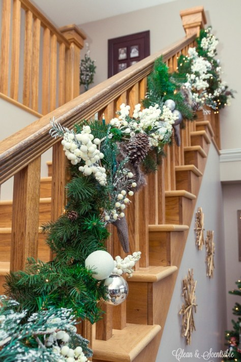 Natural Staircase Decorations
