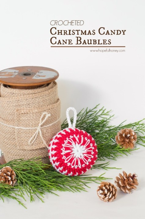 Candy Cane Christmas Baubles