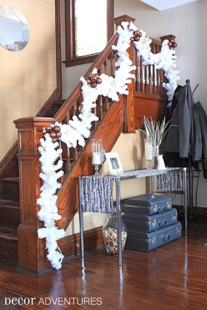 White Staircase Decoration
