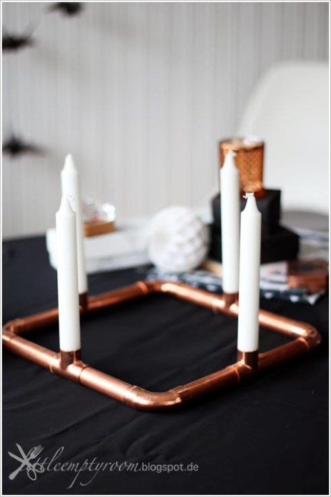 Copper Pipes Advent Wreath