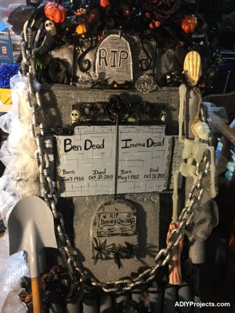 DIY Tombstone Halloween Decoration