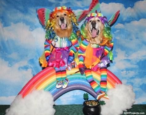 Dogs Rainbow Fairies Halloween Costume