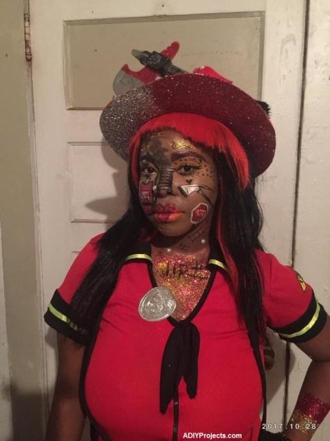 Fire Gal Halloween Makeup