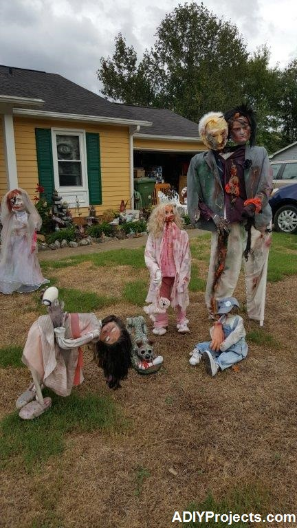 Diy Outdoor Zombies Halloween Decorations Tutorial