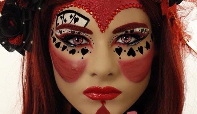 Red Queen Queen Of Hearts Halloween Makeup Tutorial