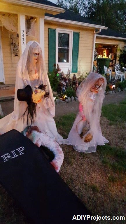 Zombies Wedding Halloween Decorations Night View