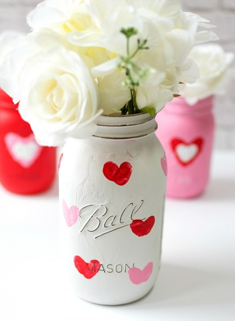 Thumbprint Heart Jars