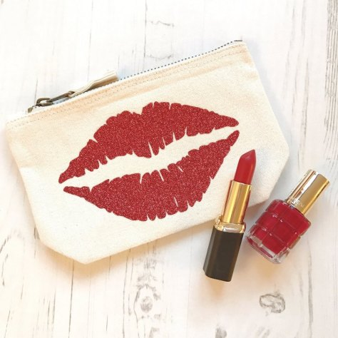 Lips Print Makeup Bag