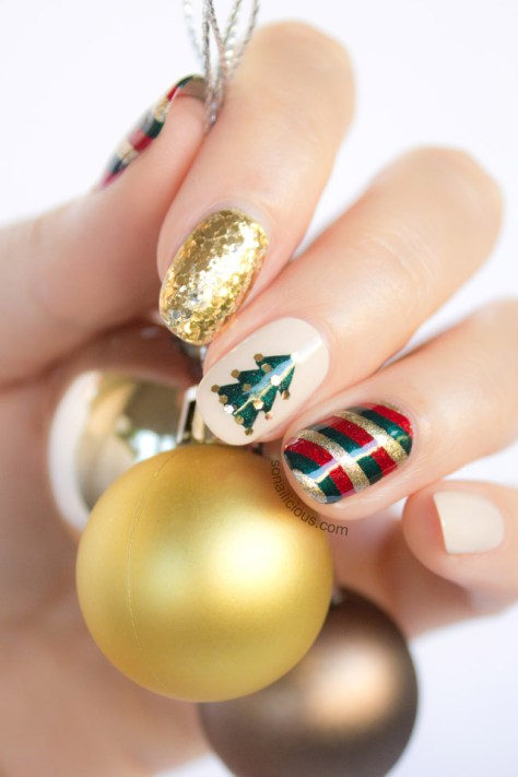 Mix Match Christmas Nail Art