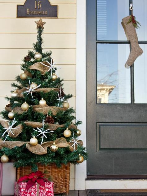 Front Porch Burlap Christmas Tree