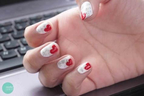 Heart Bookmark Nails