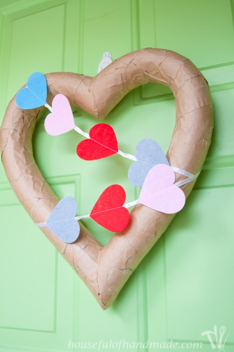 Rustic Valentines Day Heart Wreath