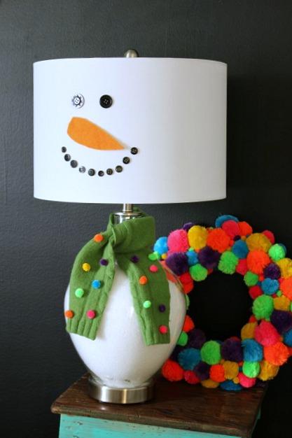 Snowman Lamp