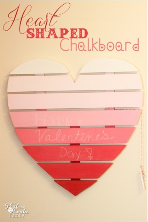 Heart-Shaped Chalkboard