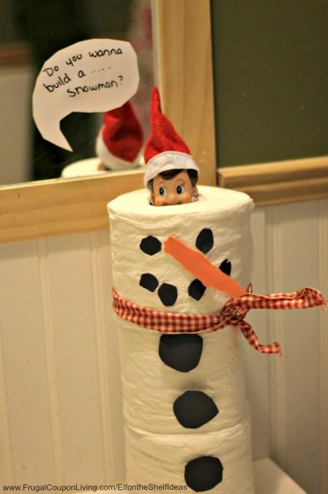Toilet Paper Snowman Elf