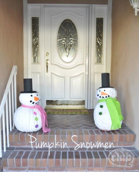 Pumpkin Snowmen