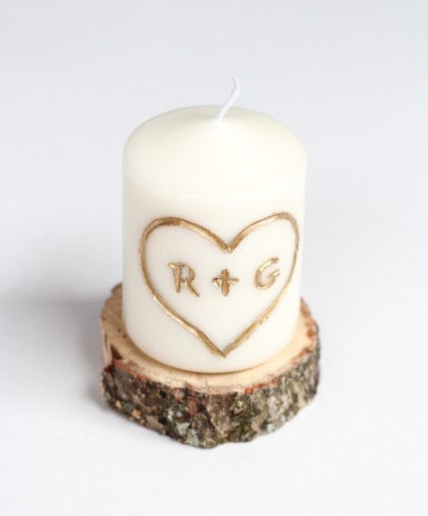 Initialed Candle
