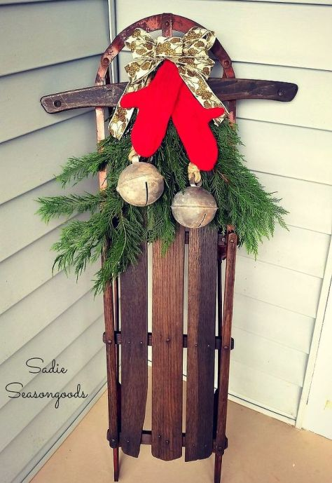 Winter Porch Decor With Bells