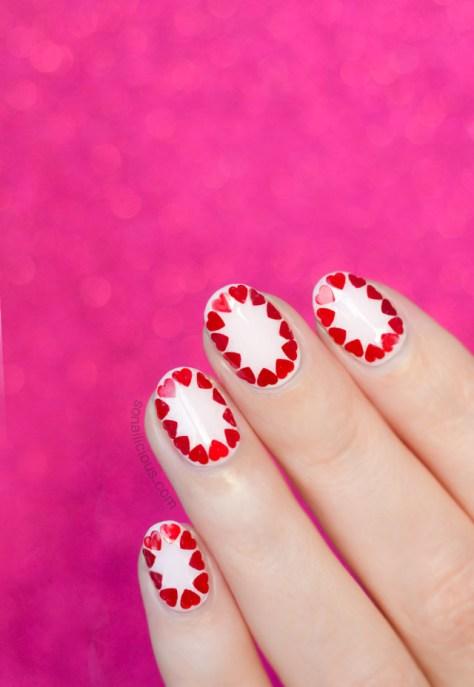 Valentine's Roses Nail Art