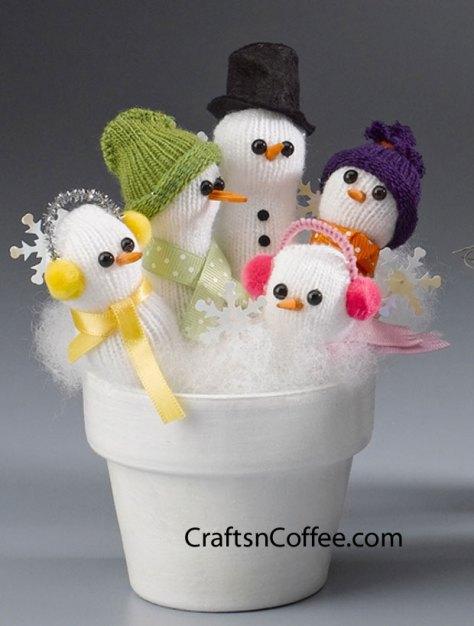 Handful Snowmen Glove